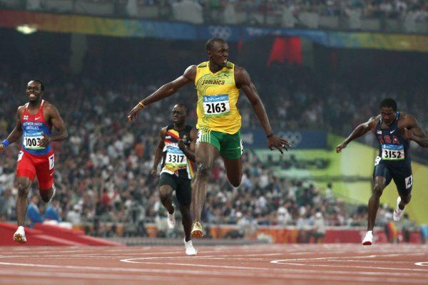 Pechino 2008 Bolt arrivo